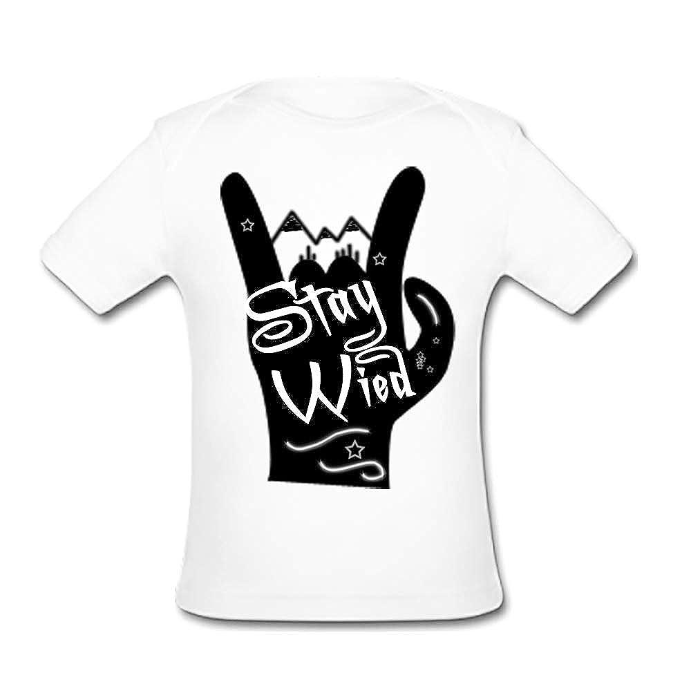 UlanLi Infant Tee Cute Big Finger Baby Organic Short Sleeve T-Shirt White