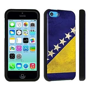 DuroCase ? Apple iPhone 5c Hard Case Black - (Bosnia Herzegovina Flag)
