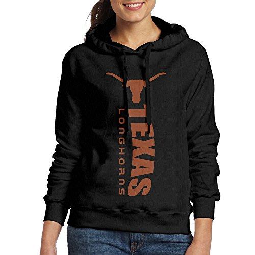 ACFUN Women's Texas Football Longhorns Logo Hoodies Size XL Black ()