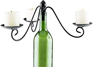 True Fabrication Boulevard 3 Votive Wine Bottle Candelabra, Multicolor