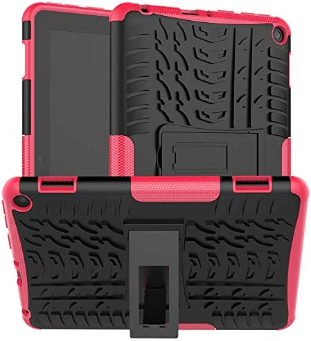 Boskin for KlNDLE FlRE hd 8 / hd 8 Plus case 2020 Release tenth Generation,Kickstand Heavy Duty Shockproof Cover (Rose Pink)