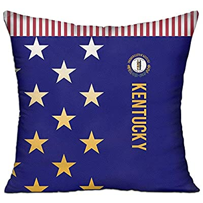 SARA NELL Velvet Throw Pillow Cases,American Kentucky Flag,Pillow Covers Decorative Pillowcase Cushion Covers Zipper 18x18 inches