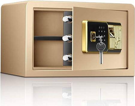Caja Fuerte Empotrable Caja de seguridad de huellas dactilares para dormitorio en el hogar, mini caja fuerte portátil resistente al fuego resistente al fuego cajas fuertes para botellas de píldoras jo: Amazon.es: