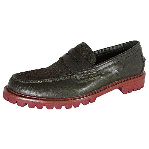 Cole Haan Heren Monroe Lug Moc Stuiver Loafer Schoenen Olijf Wol
