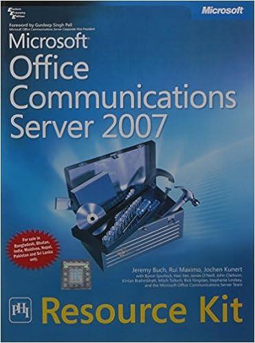 Buy Microsoft Office Communications Server 2007 Resource Kit