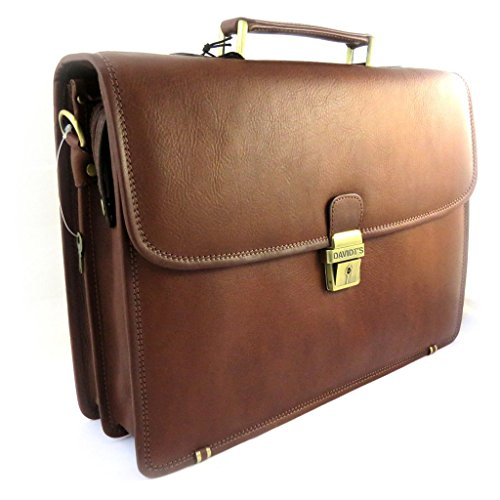 Price comparison product image Brown leather briefcase vendôme 15 (2 folds).