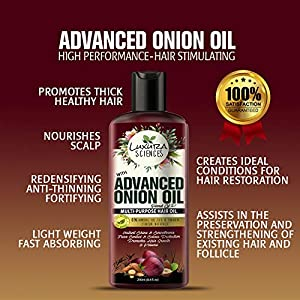 Luxura Sciences Advanced Onion Hair Oil For Hair Growth 250ml, Hair Stimulant with 21 Proven Natural Ingredients. Free…