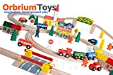 Best Wooden Train Sets - 100-Piece Orbrium Toys Triple-Loop Wooden Train Set Fits Review