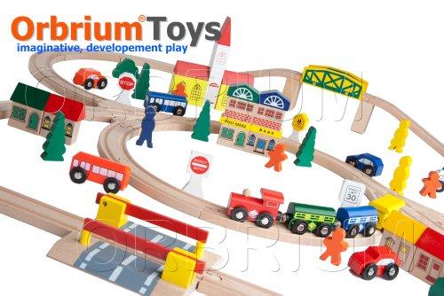100 Piece Orbrium Toys Triple Loop Chuggington
