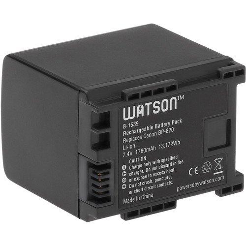 Watson BP-820 Lithium-Ion Battery Pack (7.4V, 1780mAh) -Replacement for Canon BP-820 Battery Canon HF-G30, XA20, XA25