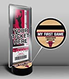 Chicago Bulls My First Game Ticket Display Stand