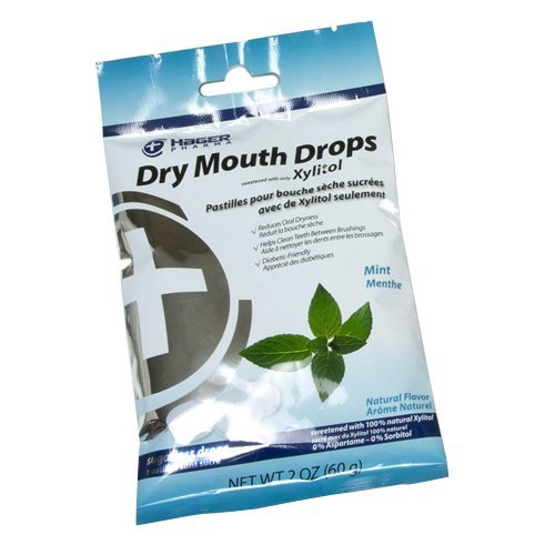 Hager Pharma Dry Mouth Drops with Xylitol Mint 26 EA - Buy Packs and SAVE (Pack of 4)