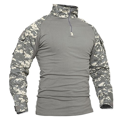 - TACVASEN Mens Tactical Digital Camo Tactical Assault Long Sleeve T-Shirt Tops ACU,US M/Tag XL