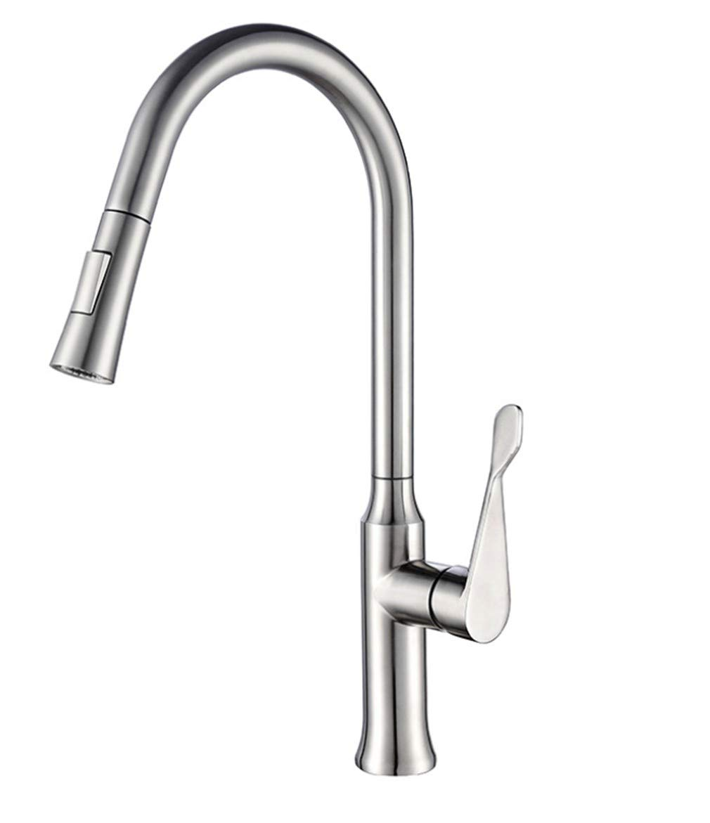 Kitchen Sink Taps Bathroom Taps Stainless Steel Kitchen Pull Faucet Cold and Hot Mixed Water Vegetable Basin Faucet