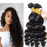 Brazilian Loose Wave Hair unprocessed Loose Wave Human Hair 3 Bundles 10A Grade Remy Brazilian Virgin Hair Loose Wave Bundles 18 20 22 inches Review