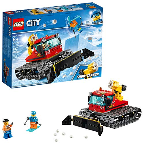 LEGO City Great Vehicles Snow Groomer 60222 Building Kit , New 2019 (197 Piece) (Lego Bulldozer)