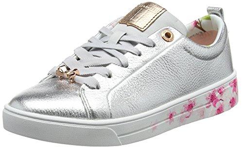 Ted Baker Damen Kelleip Sneaker Silber (argento / Fiore)