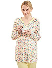 Chickle Women's V Neck Nursing Maternity Sleepwear Pajamas Set