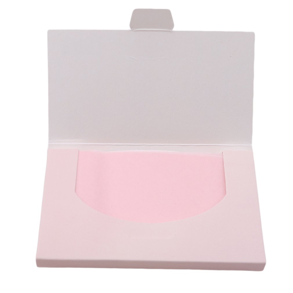 EJY 100pcs Oil-Absorbing Sheets Blotting Paper Oil Control Tissue (pink) 88_Store