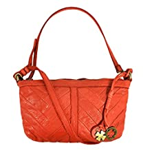 Lucky Brand Women's Leather Crossbody Handbag, Burnt Orange