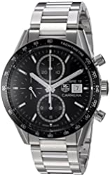 TAG Heuer Men's 'Carrera' Swiss Automatic Stainless Steel Dress Watch, Color:Silver-Toned (Model: CV201AJ.BA0727)