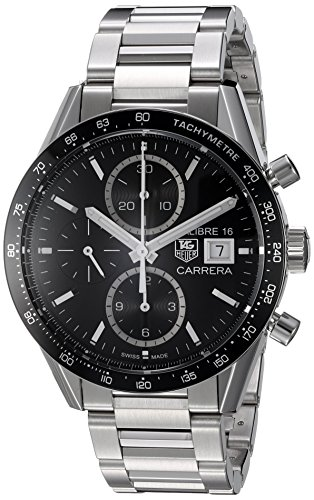 Tag Heuer Men's 'Carrera' Swiss Automatic Stainless Steel...