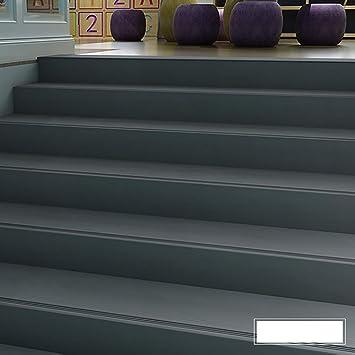 Perfil de transición Barra antideslizante de escalera de PVC, Peldaño antideslizante Peldaño Paso integral Pegamento de piso, Almohadilla de escalera de jardín de infantes Espesor: 4 mm: Amazon.es: Bricolaje y herramientas