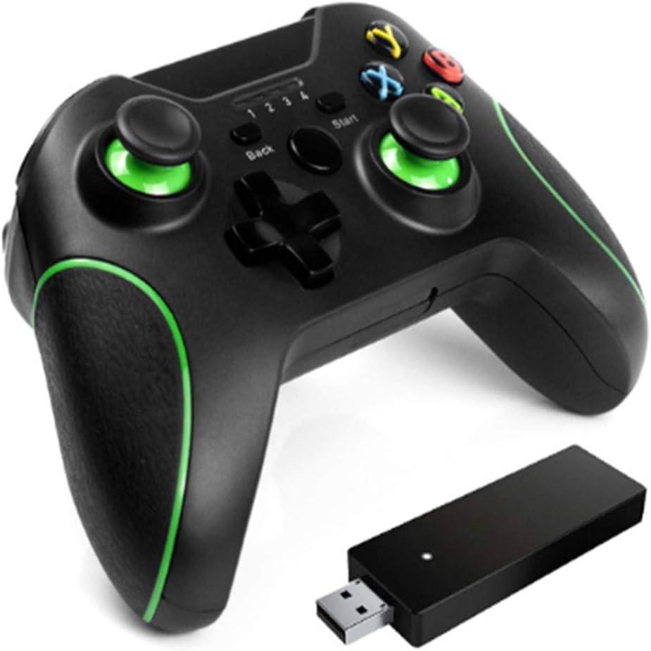 Wufly Gamepad Inalámbrico 2.4G, La Vibración De Doble Antideslizante Controlador Recargable Palanca De Mando, Adecuado para Xbox One, La Consola, La Consola PS3 Ordenador Y Android