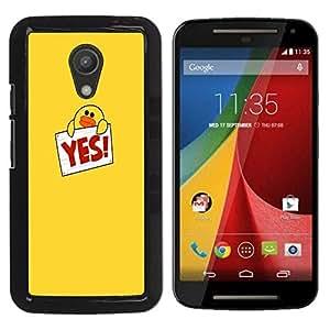 Dragon Case - FOR Motorola G 2ND GEN II - the feeling of missing? - Caja protectora de pl??stico duro de la cubierta Dise?¡Ào Slim Fit