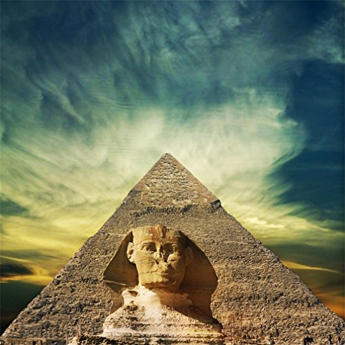 AOFOTO 5x5ft Egyptian Pyramids Photography Backdrop Mysterious Egypt Sphinx Background Outdoor Travel History Culture Vintage Architecture Photo Studio Props Kid Artistic Portrait Vinyl Wallpaper (Statues Egyptian Museum)
