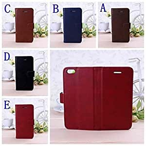 JAJAY Solid Color Full Body Leather Case with Stand for iPhone 6 Plus , C