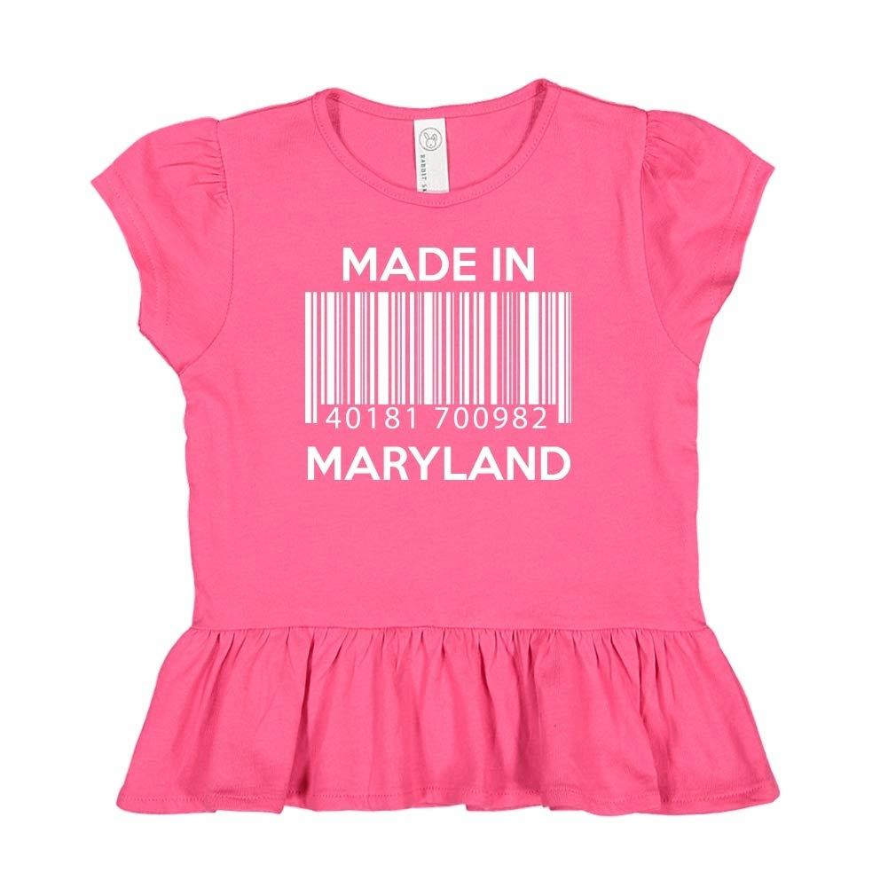 Barcode Toddler//Kids Ruffle T-Shirt Made in Maryland