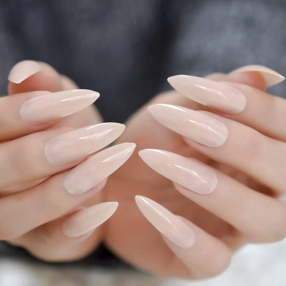 EchiQ uñas postizas de uñas naturales de gel UV, extra ...