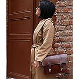 Dark Brown Leather Handmade Messenger Bag