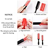 9-Row Cushion Nylon Bristle And Travel Brush