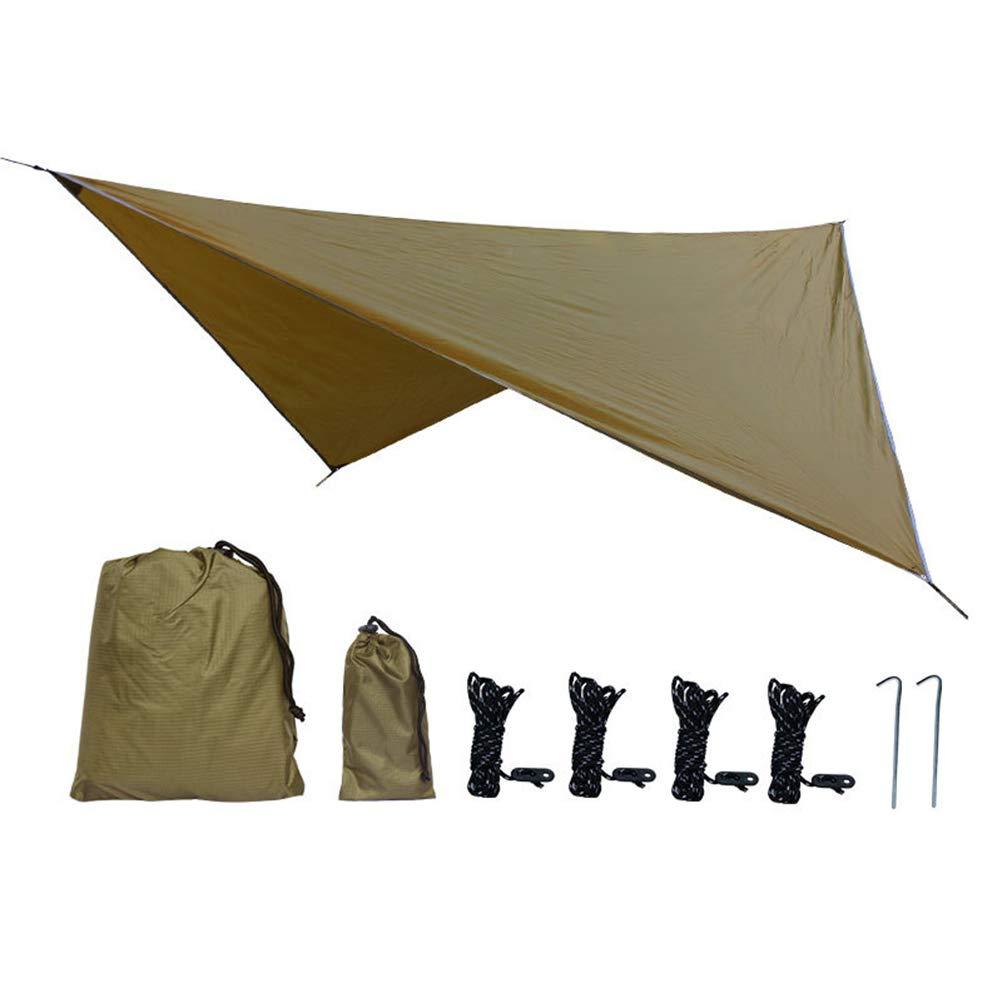 290cm freien camping zelt sonnendach Zeltplane Camping Zelt Tarp Wasserdicht h/ängematte tarp regen fliegen 360