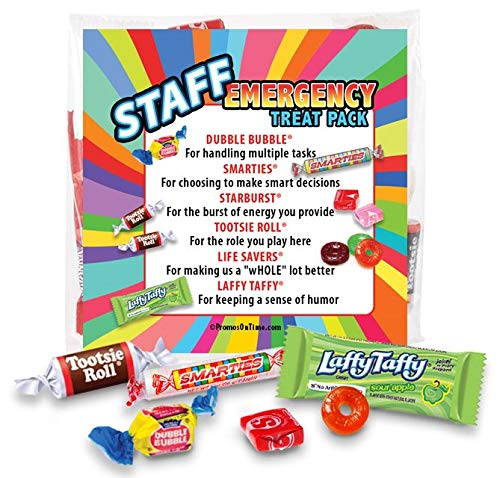 Staff Emergency Treat Pack (sets of 6) - Employee Survival Kits - Goody Bags Appreciation Gifts by Promos On-Time (Image #1)