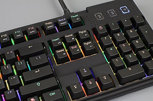 Max Keyboard Nighthawk Pro X Programmable Mechanical Keyboard, Backlit Multicolor LED, Cherry MX RGB Brown Switch by Max keyboard (Image #5)