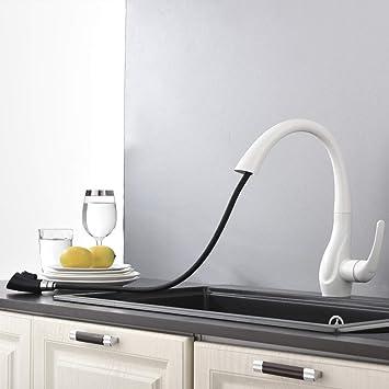Kuchenarmatur Ausziehbar Weiss 360 Drehba Wasserhahn Mit Zwei