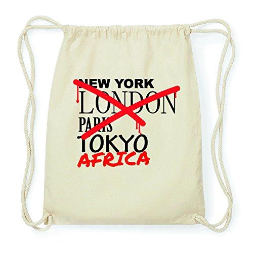JOllify AFRICA Hipster Turnbeutel Tasche Rucksack aus Baumwolle - Farbe: natur Design: Grafitti
