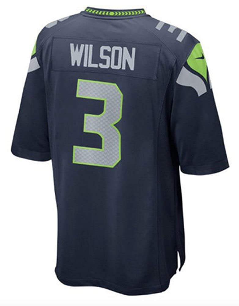 7ca490c49fc45 NIKE Russell Wilson Seattle Seahawks NFL Youth Navy Home On-Field Jersey  (Youth X-Large 18-20)