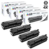 LD © Compatible Replacements for HP Q2612A / 12A Set of 4 Black Laser Toner Cartridges for HP LaserJet Printer Series