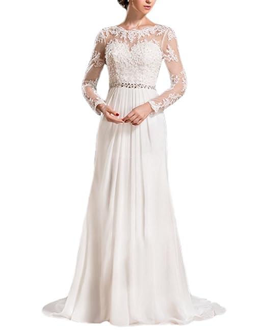 Special Bridal - Vestido de novia - Manga Larga - Mujer: Amazon.es: Ropa y accesorios