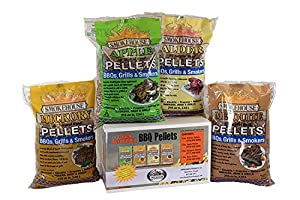 Smokehouse Products Wood Pellets (4 Pack Assortment), 5 lb from legendary Sportsman Supply Inc.