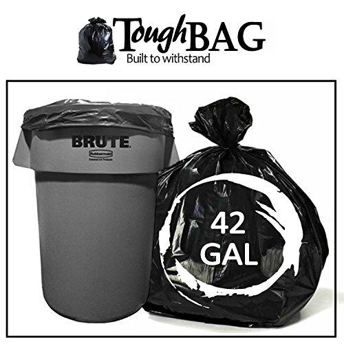 toughbag 42 gallon contractor trash bags 3 0 mil 50 case garbage bags black home garden. Black Bedroom Furniture Sets. Home Design Ideas