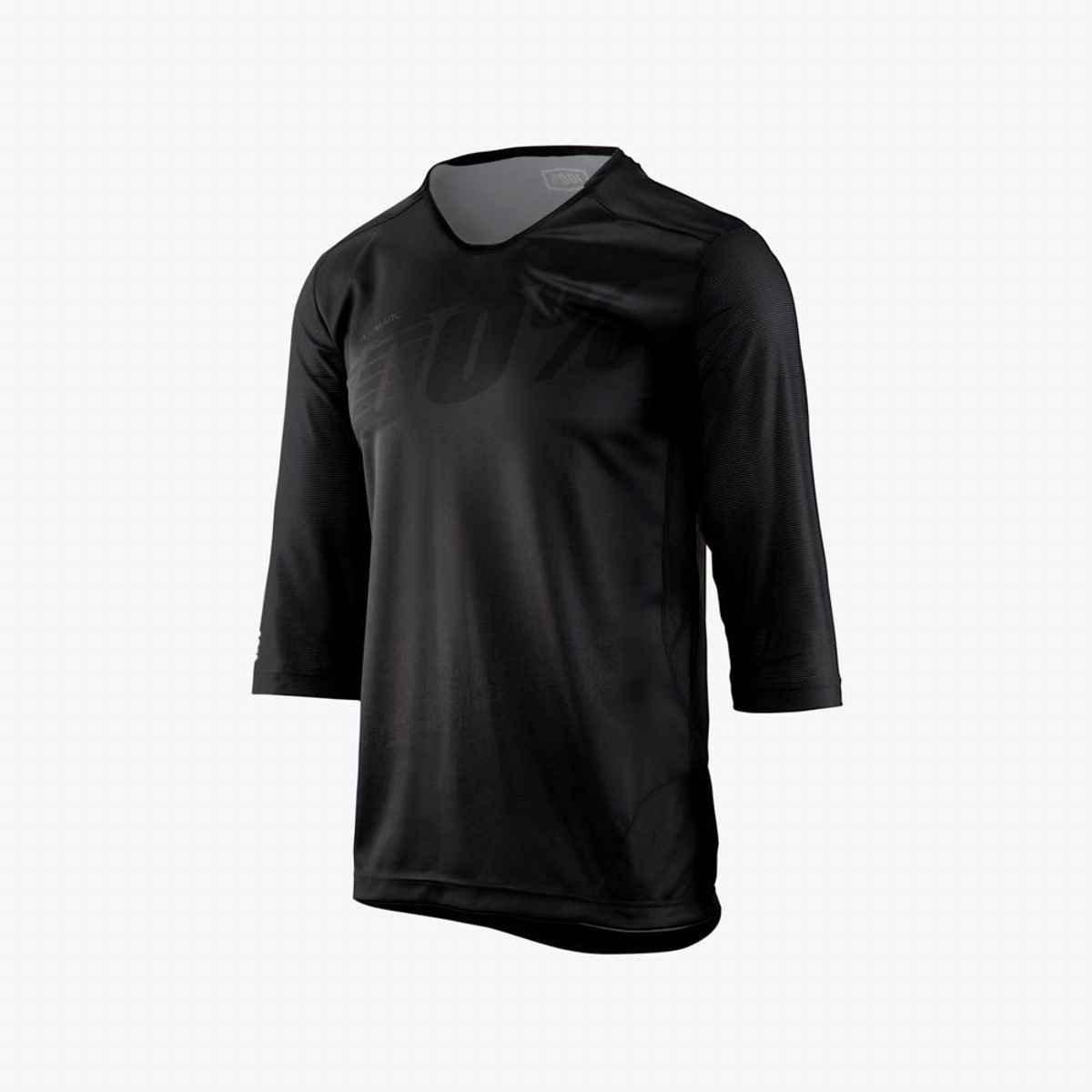 100 % AIRMATIC Jersey – Men 's B075NNMB61  Black 3/4 Medium