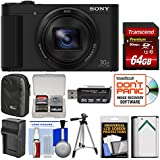 Sony Cyber-Shot DSC-HX80 Wi-Fi Digital Camera 64GB Card + Case + Battery & Charger + Tripod + Kit