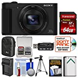 Cheap Sony Cyber-Shot DSC-HX80 Wi-Fi Digital Camera with 64GB Card + Case + Battery & Charger + Tripod + Kit