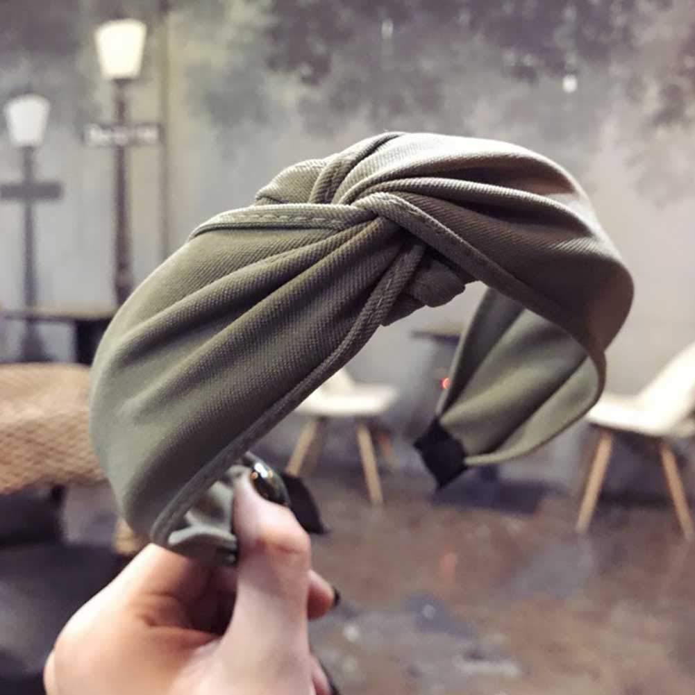 Shengyan testina incrociata fascia da donna in tessuto moda fiocco attorcigliato copricapo H01 cintura fascia per capelli
