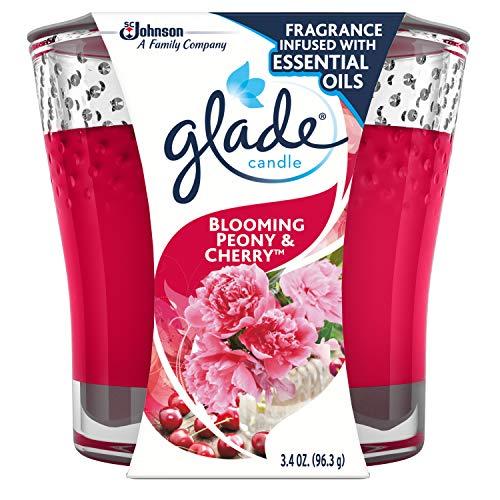 Glade Jar Candle Air Freshener, Blooming Peony & Cherry, 3.4 oz